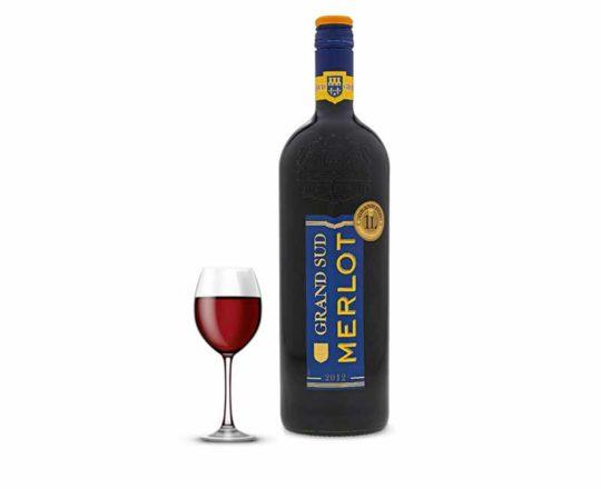 vin grand sud merlot rouge